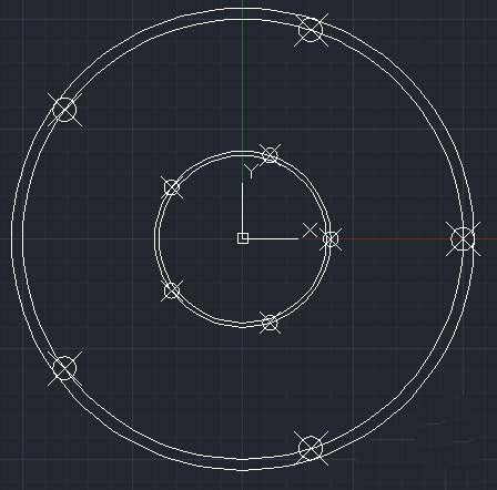 CAD如何绘制轮盘平面图?