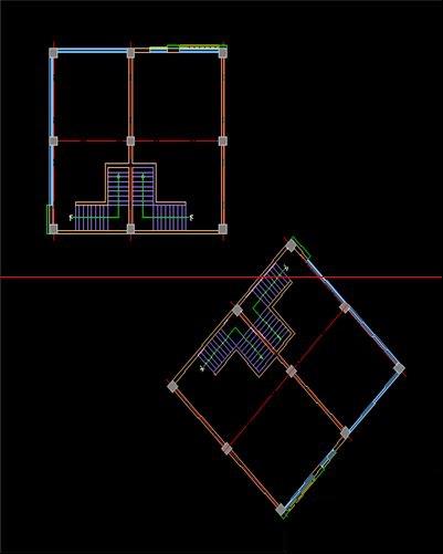 CAD如何旋转图形教程?