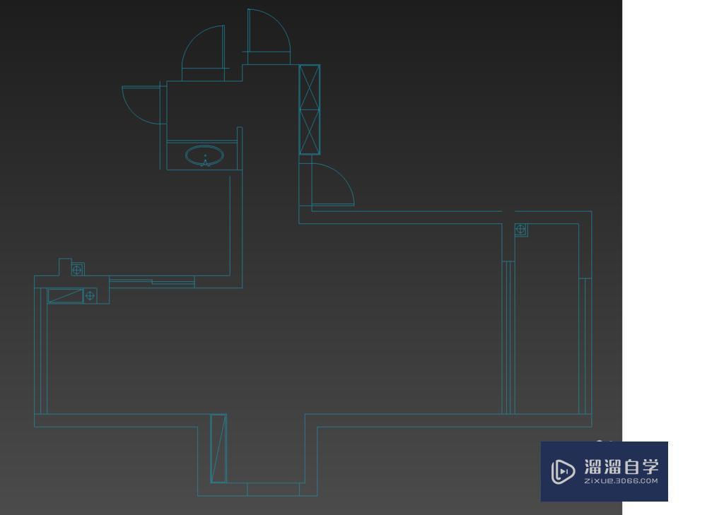 零基础如何将CAD户型图导入3D建墙体