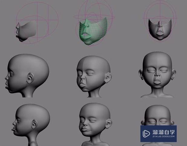 3Ds Max建模小孩人物教程