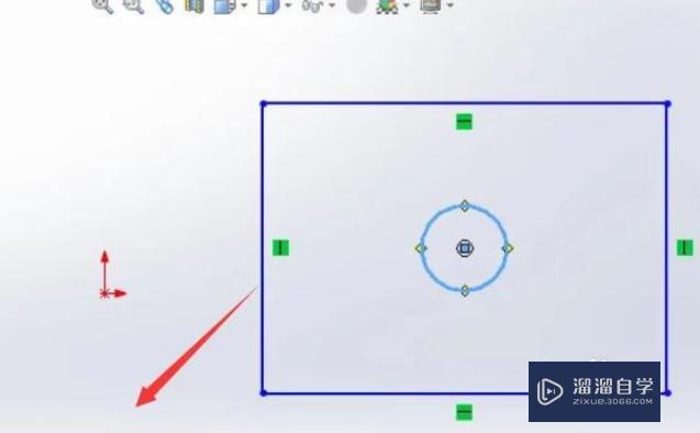 如何在SolidWorks中对平面图形进行拉伸?