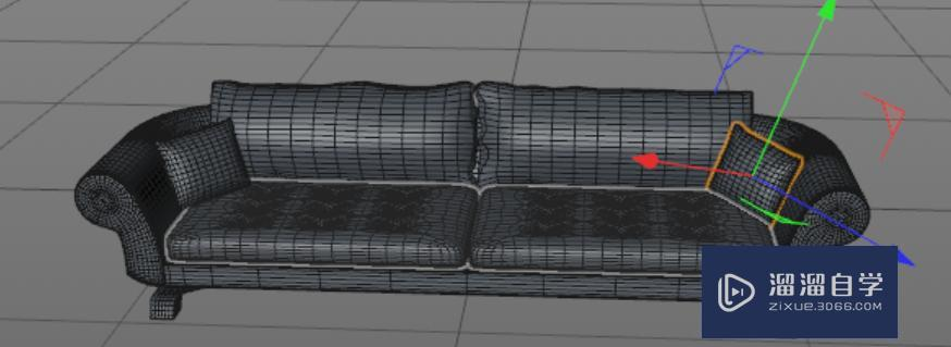 C4D沙发建模教程