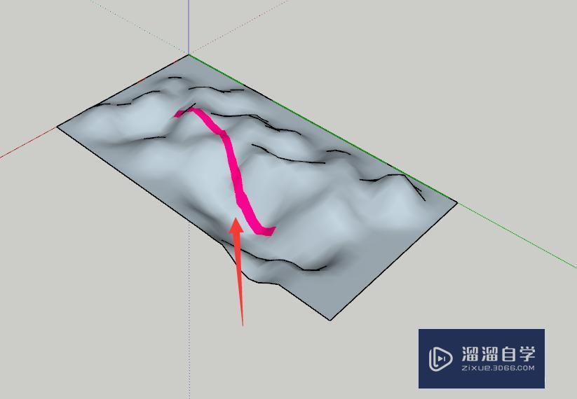 SU草图大师怎么在复杂地形上铺路?