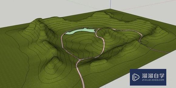 草图大师SketchUp如何建模景观地形?