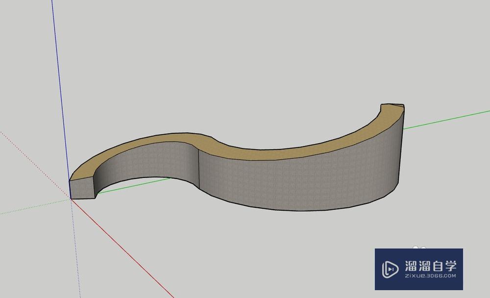 SU中如何制作曲线坡道?