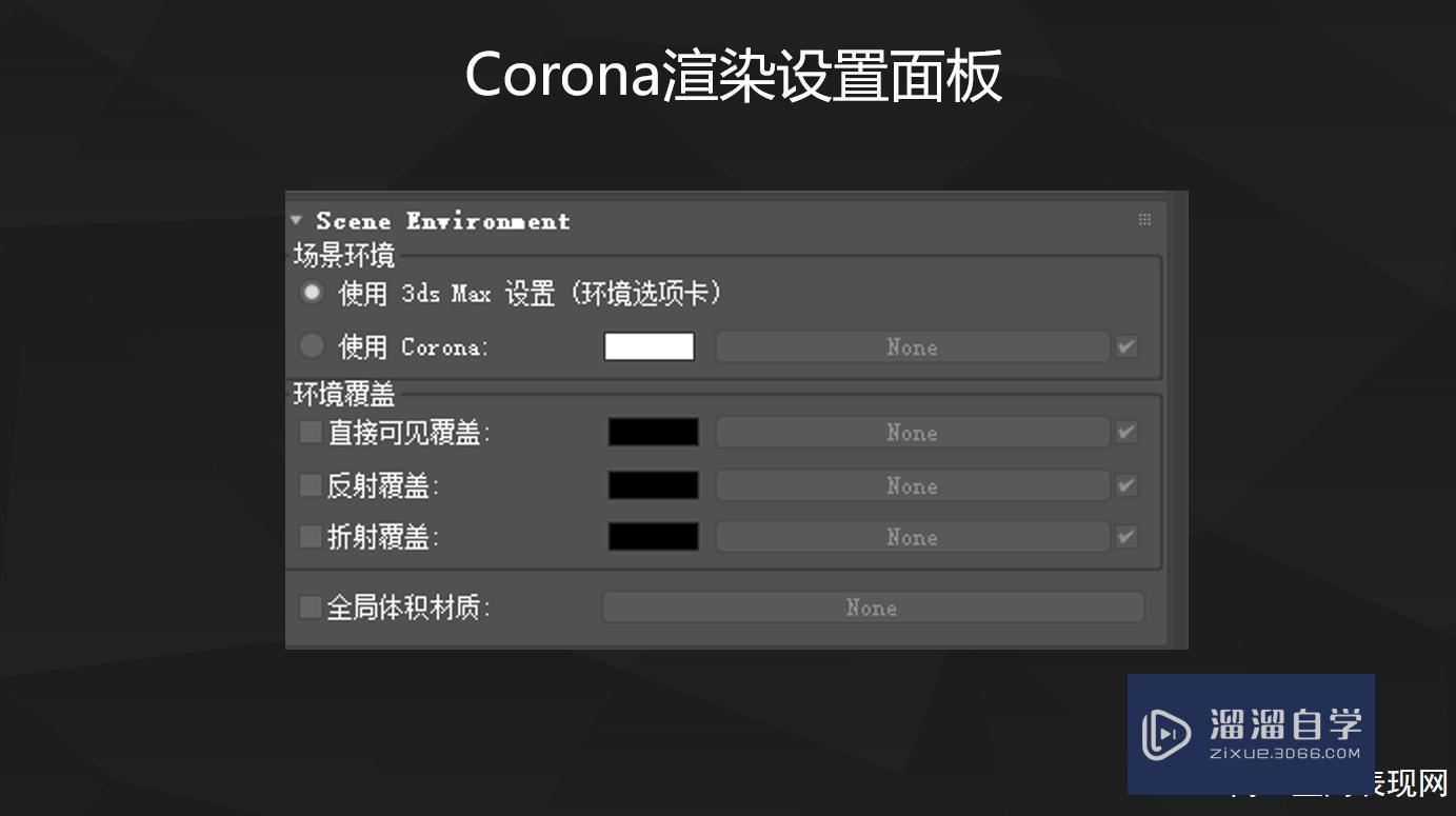 Corona渲染设置面板详细解析教程