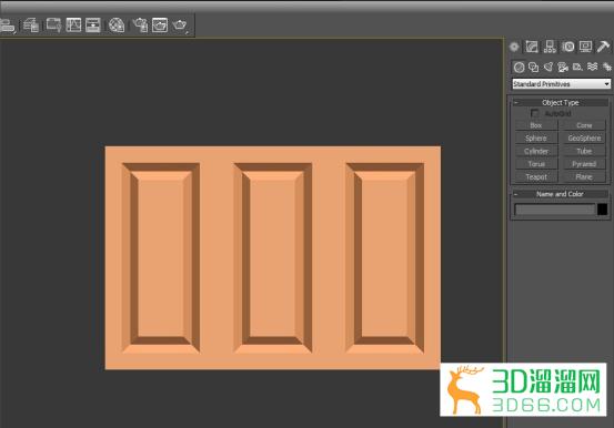 3DMax怎么制作造型柜门