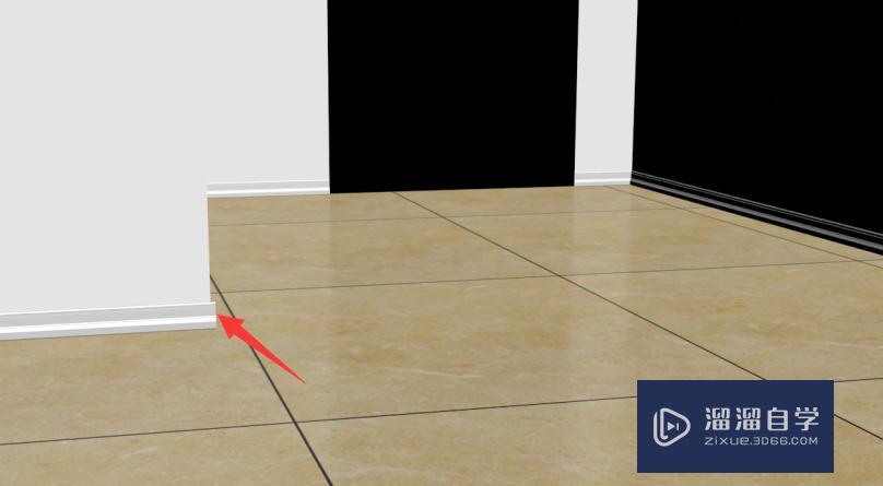 使用Autodesk 3Ds Max软件如何制作房间踢脚线?