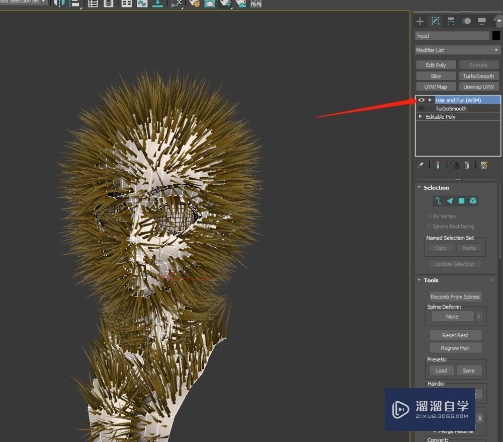 3DMax人物头发怎么做?